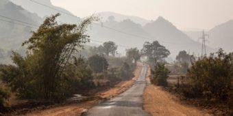 rural road odisha india