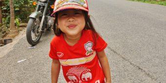 girl motorcycle laos
