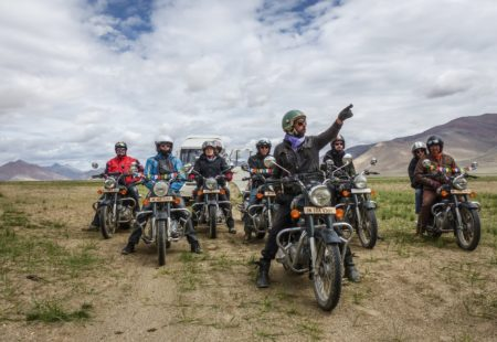 "Taglang La, Chang La, Khardung La… With peaks over 5,000 m altitude, it's very likely that you may face a bout of altitude sickness during your <a href=""https://www.vintagerides.travel/motorcycle-tour/india-himalaya/"">motorcycle tour in the Himalayas</a>. All of our tours start with one or two gentler days to break riders in and make sure they get used to the surroundings. Plenty of rest and keeping hydrated will help get rid of any altitude sickness symptoms after a few days. But you can ride with peace of mind because our motorcycle tour leaders have plenty of experience in the mountains and are used to coping with altitude. Every day, we gradually take it up a notch so that you have time to get used to the road and this new environment. You can also ask your doctor for advice before setting off on your two-wheeled adventure to the top of the world. Depending on your needs, s/he may be able to homeopathic coca leaf capsules or Diamox, a medication used to treat altitude sickness."