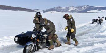 frozen lake mongolia