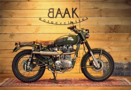 """<h3><a href=""""https://www.baakmotocyclettes.com/en/"""">BAAK MOTOCYCLETTES</a></h3>A motorcycle part craftsman, the builder from Lyons offers to customise your ride by creating made-to-measure parts for your Triumph, Guzzi, Royal Enfield, and more recently, BMW NineT. Using high-quality materials, the team revives an elegant retro style on new models. A Vintage Rides partner, the team has built us a bike that reflects our tours, made for exploring. One of our riders, Alexis Charton, owns another model created by them, the magnificent Royal Enfield Scrambler, a ride with character and style, compatible with adventure."""