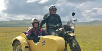 riders sidecar mongolia
