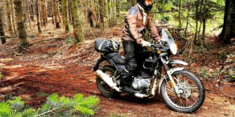 ride in forest in france