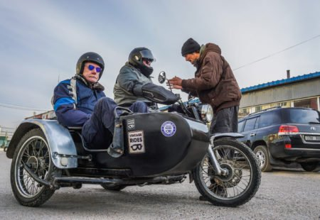 "<h3>Jean, could you please tell us a little about the new sidecars that will take to frozen Lake Khövsgöl next February?</h3> The Himalayan and its tailor-made Yeti 2 sidecar will glide onto the ice for the first time this winter! This little Royal Enfield trail bike proved its worth in the steppes this summer when we tested the new sidecars with a small group during a <a href=""https://www.vintagerides.travel/motorcycle-tour/mongolia/east-side-story/"">sidecar tour in Mongolia</a> last August. At Alternative Sidecar, we created the reinforced fibreglass body especially as we knew it would provide better protection from the cold than sheet steel."