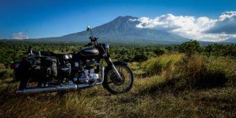 mountain with bike