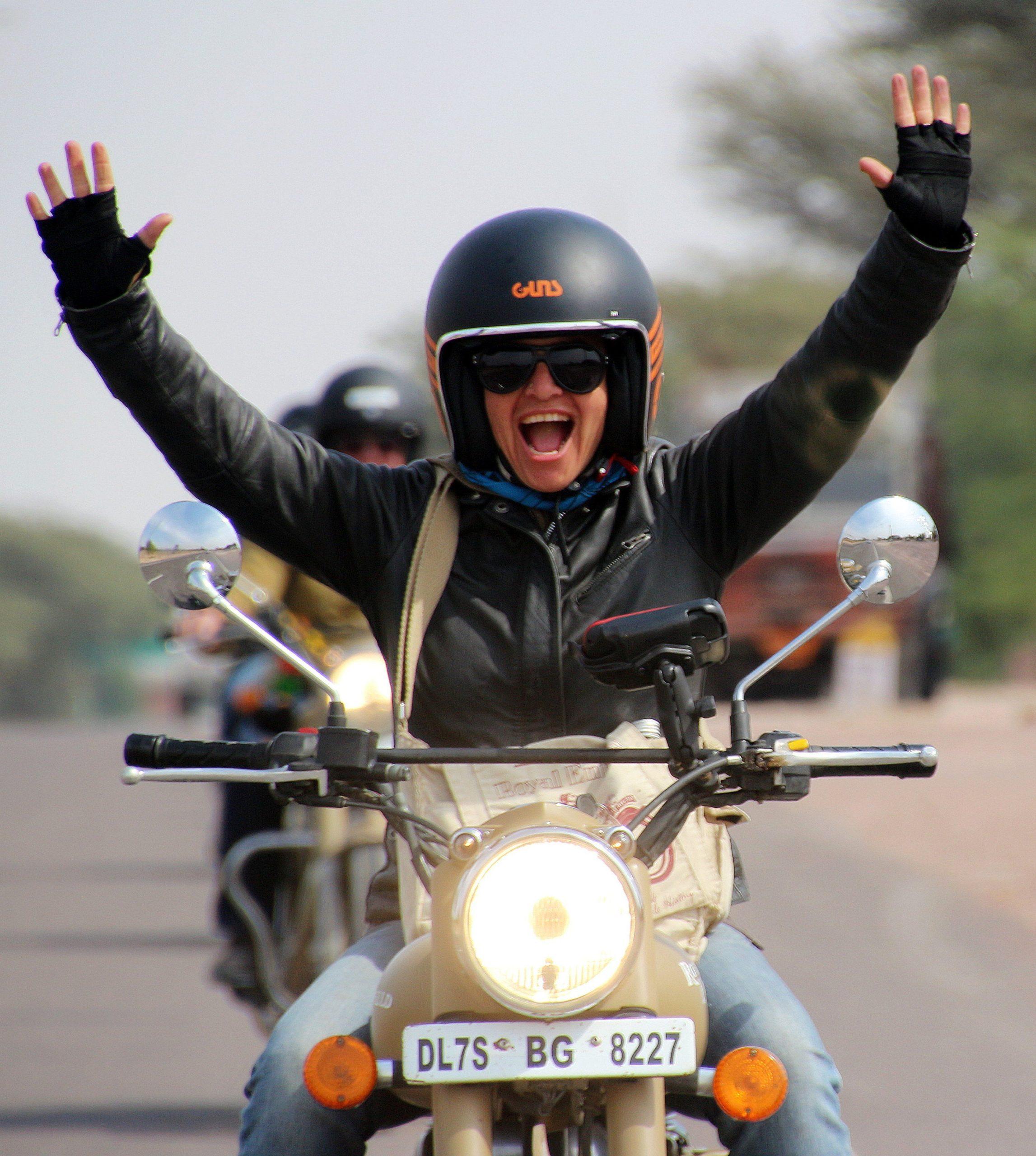 happy rider female