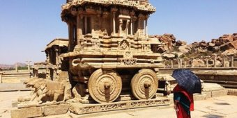 hampi architecture temple antique stone chariot