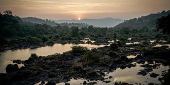 south india landscape sunset river