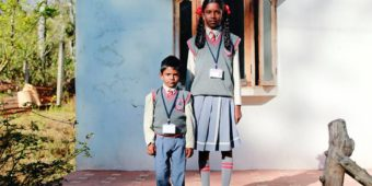 schoolchildren south india