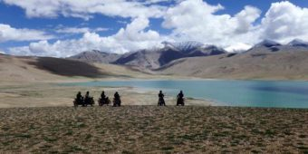 motorcycle lake himalaya