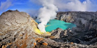 mount ijen volcano
