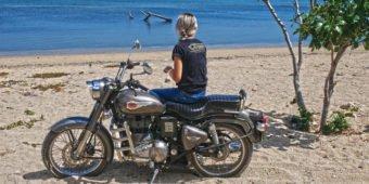 female rider bali