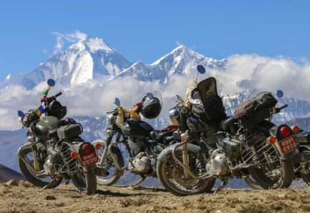 """<strong>Why did you decide to join our <a href=""""https://www.vintagerides.travel/motorcycle-tour/indonesia/"""">motorcycle tour in Indonesia</a>?</strong> I have been doing <a href=""""https://www.vintagerides.travel/"""">guided motorcycle tours</a> with Vintage Rides for some years now and have done <a href=""""https://www.vintagerides.travel/motorcycle-tour/india-himalaya/"""">motorcycle tours in Ladakh</a>, Nepal and Mongolia. For me, it's the best way to travel for several reasons: you have a 180° view and really get to feel the wind and the temperature, smell the smells and have a sense of freedom and adventure. It makes me feel 200% alive! I really enjoy the physical challenge and having to push myself, as I am quite sporty. I decided on the Indonesia tour because Georges, who I met on the Ladakh tour in 2017, suggested that we met up there! <strong>What was your overall opinion of this tour?</strong> It was amazing! After Mustang and Mongolia, it was my third tour with Reshad. As always, he added some great alternatives. Something extra that I loved about this tour was that we got the chance to meet Balinese and Javanese people."""