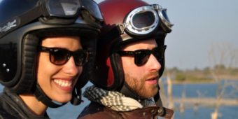 couple riders motorcycle tours