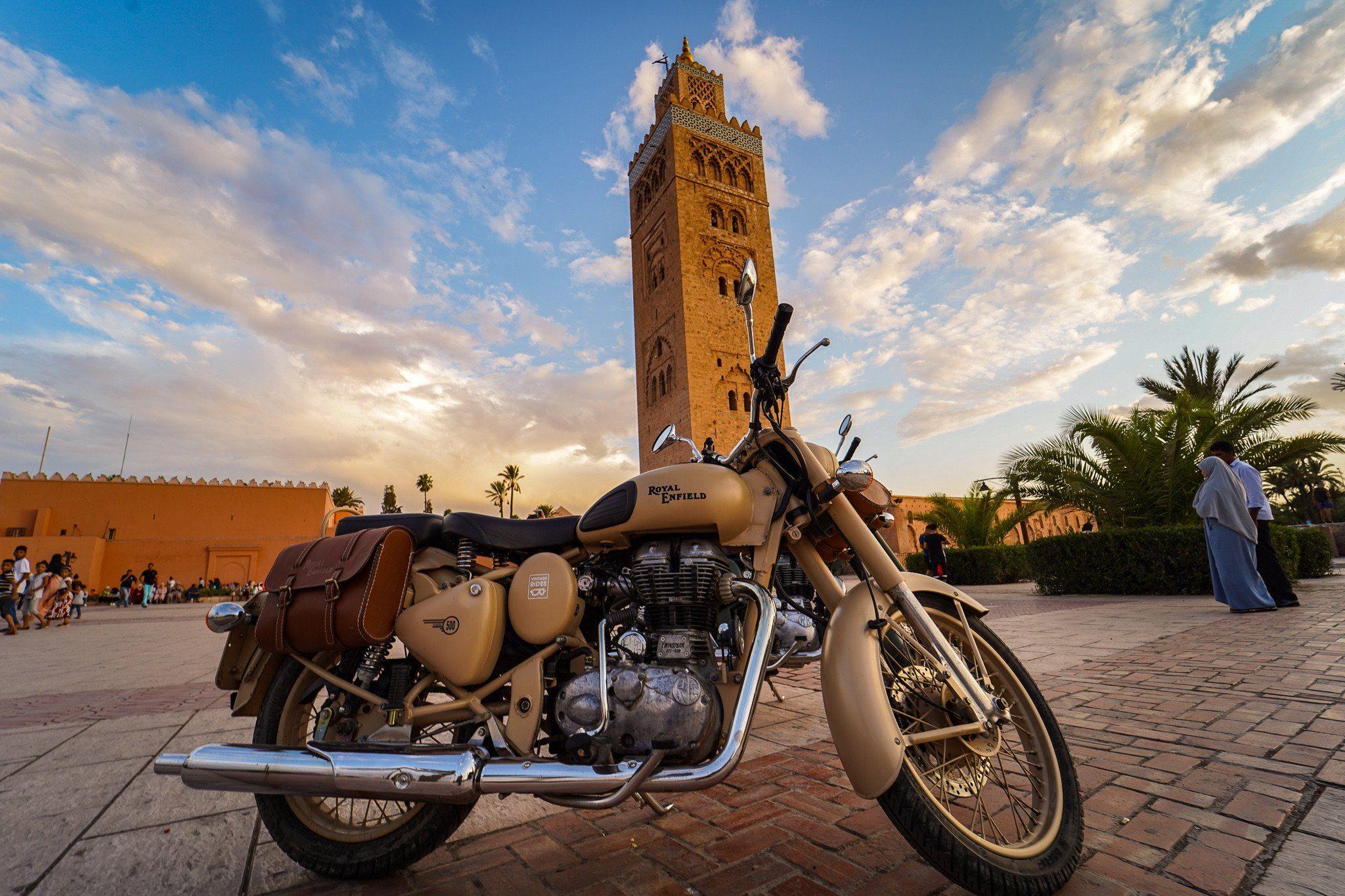 royal enfield in marrakesh
