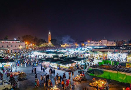 <h2>1- The medina, souks and Jemaa-El-Fna square</h2>  If you've only got a few hours in Marrakesh, head straight to the centre to soak up the Red City's lively atmosphere. Take in the hustle and bustle of the souks and try your hand at bartering for treasures. Stroll through the medina and discover the architectural gems and culture of Morocco's best-known city. Or even enjoy a walk under the glorious sun that shines over Jemaa-El-Fna square and wander among snake charmers and food stalls for an authentic experience.