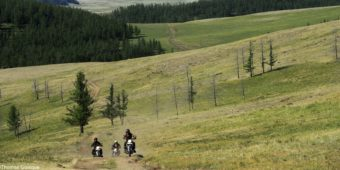 steppe by motorcycle