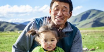 father and daughter mongolian