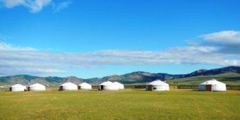 yurts steppes mongolia