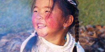 children girl smile mongolia