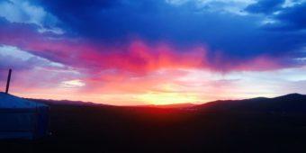 dawn nature mongolia