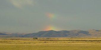 mountains rainbow mongolia