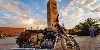 royal enfield in marrakech