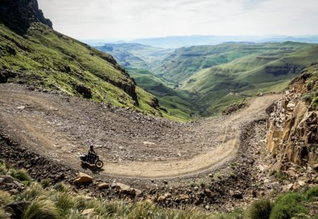 """<strong>1- Could you describe this new tour?</strong>  This new <a href=""""https://www.vintagerides.travel/motorcycle-tour/south-africa/"""">motorcycle tour of South Africa</a> kicks off close to Durban, along the Indian Ocean coast. We then head towards Mozambique, getting our first glimpse of wildlife pretty much immediately by visiting St Lucia, Hluhluwe and Pongola Game Reserves. We cross the border to Swaziland, a small peculiar kingdom, boasting a wonderful maze of tracks. We reach the north-east of South Africa, where we marvel at the views of Blyde River Canyon and the famous Kruger National Park. We continue our adventure, crossing Swaziland once again, then the Midlands pastures with the imposing Drakensberg in sight. Then, we tackle the legendary Sani Pass, the gateway to the kingdom of Lesotho. Lastly, we make our way back along the South African coast to finish off with a well-deserved dip in the Indian Ocean."""