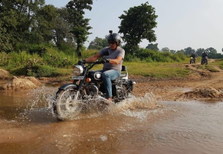 "<h2>An experience away from touristic paths</h2> ""I enjoyed the complete change of scenery and feeling constantly amazed as we delved deeper into off-the-beaten-track India,"" Dominique told us. Our rider has just been on this <a href=""https://www.vintagerides.travel/"">motorbike holidays</a> with a small group. It's his second tour with Vintage Rides after visiting Nepal with us last year. ""After Mustang, I wanted to do a tour with my wife and we fancied something calmer paced, which would also give us the chance to relax."""