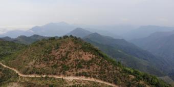 misty landscape north thailand