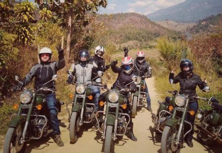 """<h2>What motorcycle tours have you already done?</h2>  I've been on several trips as a family with my partner Igor and our daughter Nikita. In Europe, we've been to Corsica, Italy and Greece. Then, in 2013, we decided to go further afield and the three of us went to Rajasthan when Nikita was just 11. The next year, we went snow biking in the Laurentian Mountains in Canada. Then, we wanted to do a <a href=""""https://www.vintagerides.travel/motorcycle-tour-india//"""">motorcycle tours India</a> returned as a family to ride the Spice Route in Kerala. The following year, we all took to the roads of Ceylon in Sri Lanka. Then, in 2018, we went to do a <a href=""""https://www.vintagerides.travel/motorcycle-tour/laos-thailand/"""">Thailand motorcycle tour</a> with a small group: my husband, my daughter, my dad and a couple of friends who we met in Argentina. Last year, however, we parked up the bikes to make one of our family dreams come true: whale watching in Baja California in Mexico."""