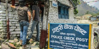 police check point nepal