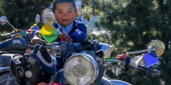 local boy motorcycle nepal