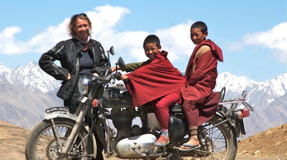 suzie with nepalese bike