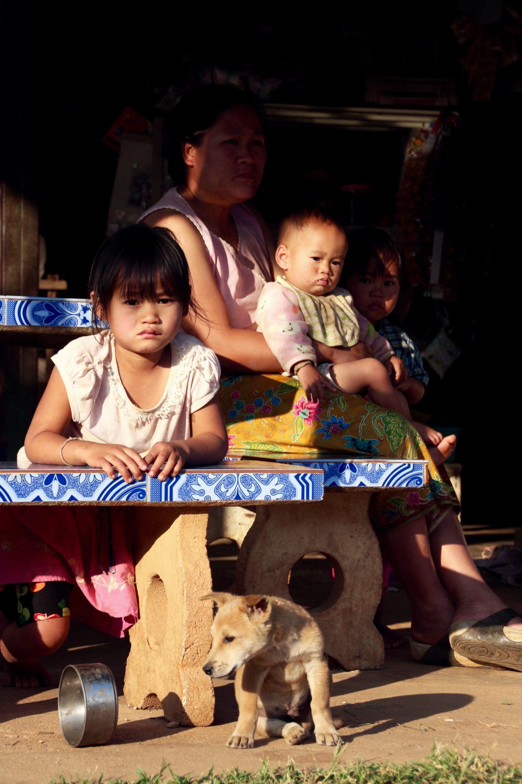 local children north thailand