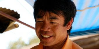 smiling thai man thailand