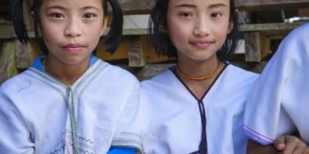 two thai girls thailand