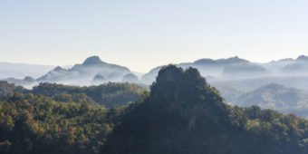 hilly landscape thailand