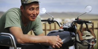 mongol man motorcycle