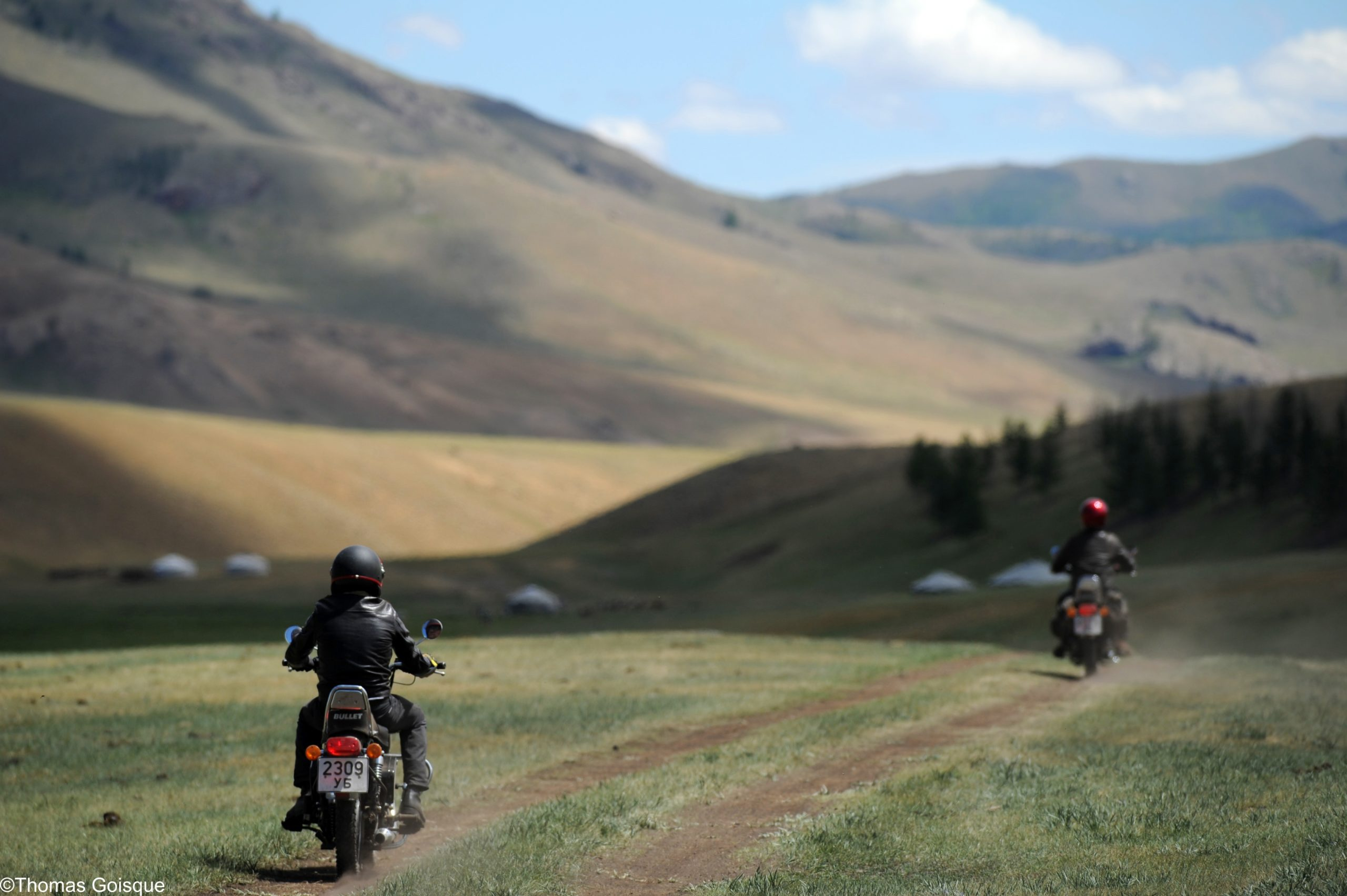 mongolia motorcycle steppe