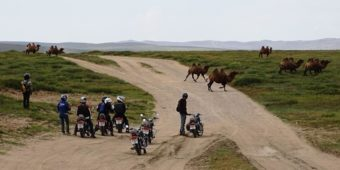 riders motorcycles roads mongolia