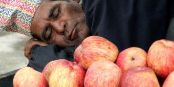 nepal man apples
