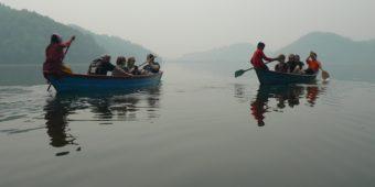 nepal water boat