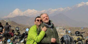 tourists bikes nepal