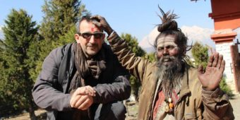 tourist old man nepal
