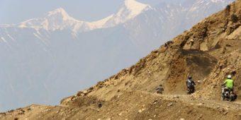 mountains roads nepal
