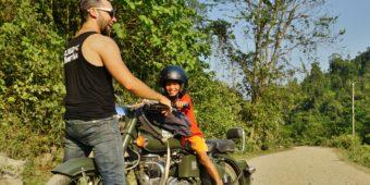 motorcycle riders laos