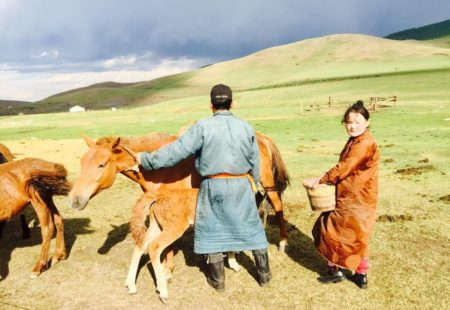 """<strong>Any advice for people who want to ride in Mongolia with us?</strong>  This is the second season that I've been working this destination, and I've noticed two preconceptions which are very much in the minds of people who come here for the first time. Luckily after the trip everyone agrees! - """"Um, Mongolia, I don't know, I feel like it's monotonous, it'll always be the same."""" No, Mongolia is not only about the steppe. On the contrary, the landscapes are very diverse. You can find everything: canyons, rivers, forests, volcanoes, lakes, desert, mountains etc. - """"We don't eat well in Mongolia, why travel for 15 days to eat sheep and drink fermented mare's milk ..."""" This isn't true. In Ulan Bator there's a great gastronomic diversity, many restaurants, and you can find anything in the supermarkets. And as soon as we go on the steppe, we sleep in yurt camps which have made great efforts in recent years to satisfy the palate of foreign travellers, with a wide range of fruit juices, vegetables and western dishes.  Vegetarians can have a wonderful time in Mongolia too, without any problem. What's also true is that there's always a lot of vodka!"""