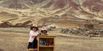 little girls in desert peru