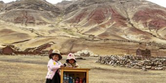 little girls desert peru